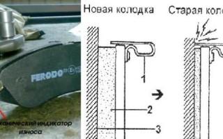 Замена датчика износа тормозных колодок