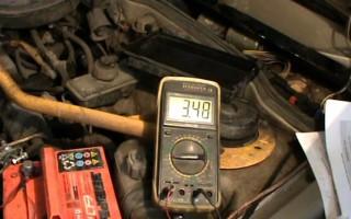 Степень зарядки автомобильного аккумулятора