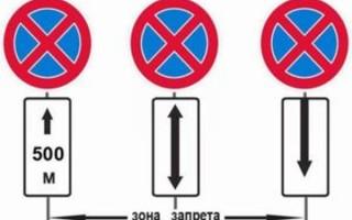 Знак стоянка запрещена стрелка вниз