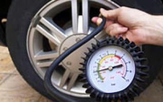 Давление воздуха в шинах автомобиля