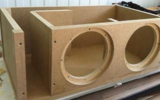Как сделать короб для буфера