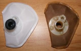 Замена фильтра бензонасоса калина