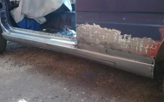 Ваз 2112 ремонт порогов