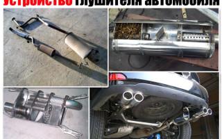 Строение глушителя автомобиля