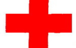 Знак красный крест на белом фоне