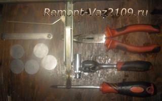 Порядок регулировки клапанов 2108