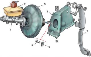 Ваз 2110 замена вакуумного усилителя тормозов видео