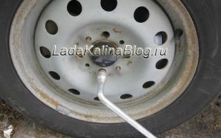 Замена передних тормозных дисков на калине