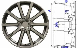 Как узнать диаметр диска автомобиля