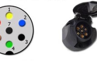 Электросхема подключения прицепа легкового автомобиля