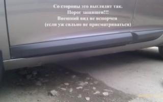 Накладки на низ двери автомобиля от грязи